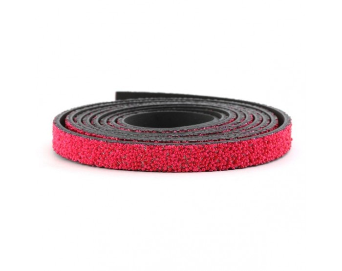 Cuir caviar 10 mm rouge