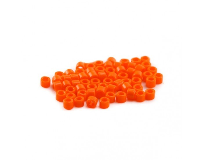 5g (+/- 875 perles) Délica 11/0 orange opaque n°722