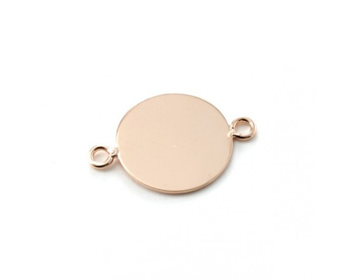 Support connecteur 15 mm rose gold
