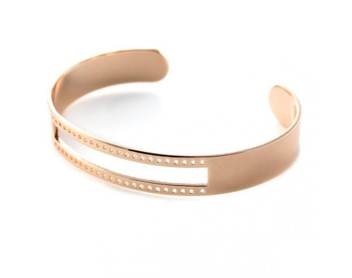 Bracelet Eco à tisser 10 mm métal 10x58 mm rose gold