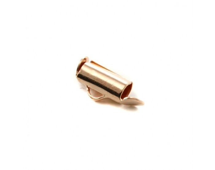 Embout pour tissage 4x9.2mm rose gold