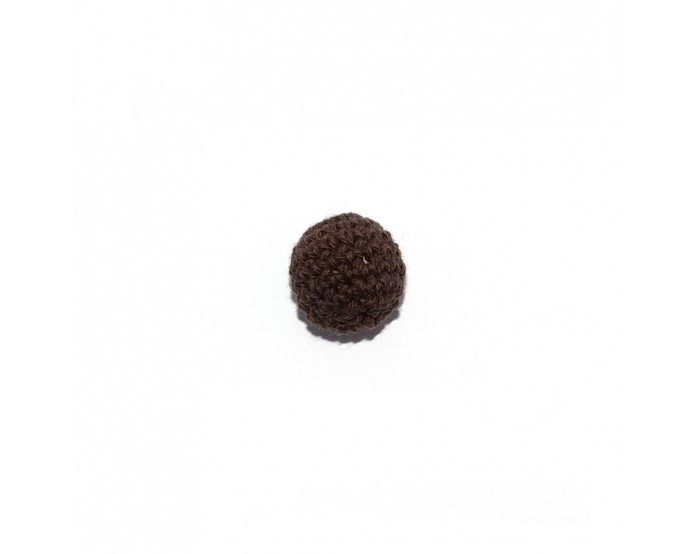 Perle crochet 20 mm marron