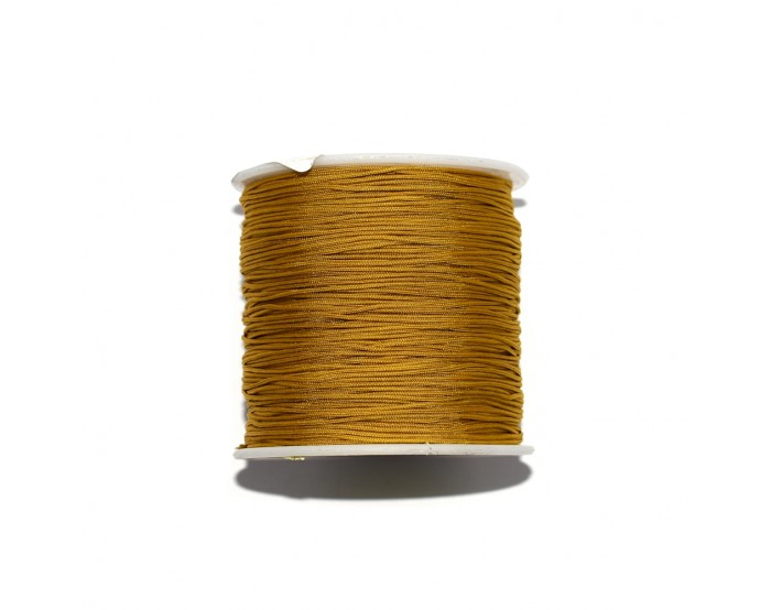Fil nylon tressé 0,8 mm jaune moutarde x1 m