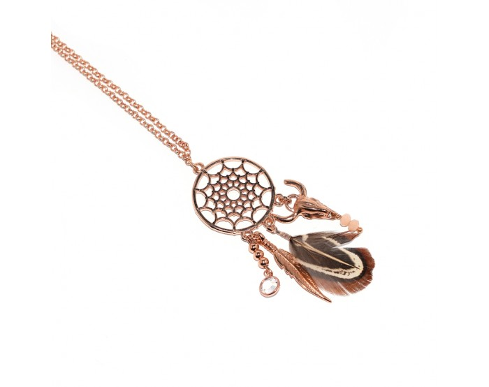 Collier attrape-rêves rose gold
