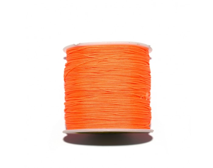 Fil nylon tressé 0,8 mm orange fluo x1 m
