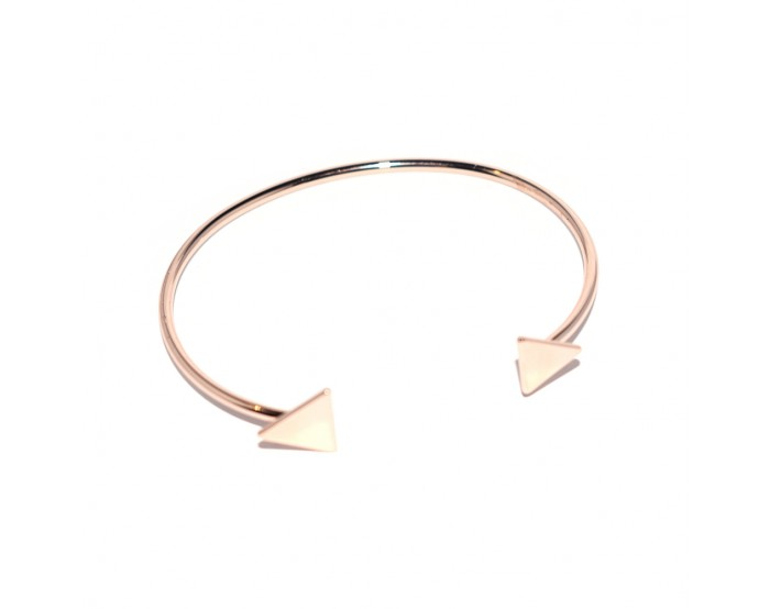 Bracelet jonc triangle métal rose gold ajustable