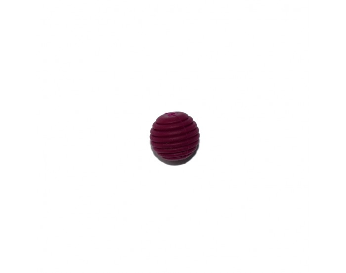 Perle silicone spirale 15 mm bordeaux